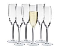 Linea Ripple champagne flutes set of 6