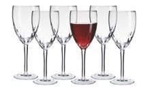 Linea Ripple wine glasses set of 6