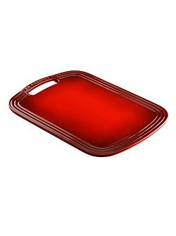 Stoneware cheese board cerise