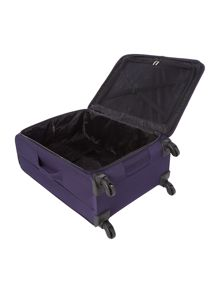 Helston purple 4 wheel large suitcase