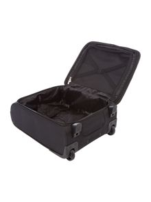 Helston black 2 wheel cabin suitcase