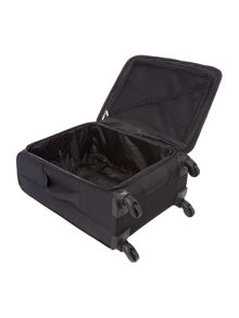 Linea Helston black 4 wheel medium suitcase