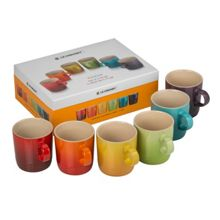 Le Creuset Set 6 rainbow mugs