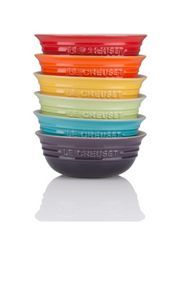 Le Creuset Set 6 rainbow cereal bowls