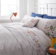 Dickins & Jones Flower embroidery duvet cover