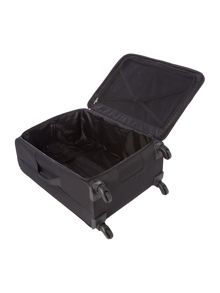 Helston black 4 wheel large suitcase