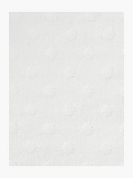 Luxury Hotel Collection Jacquard spot bedspread, white