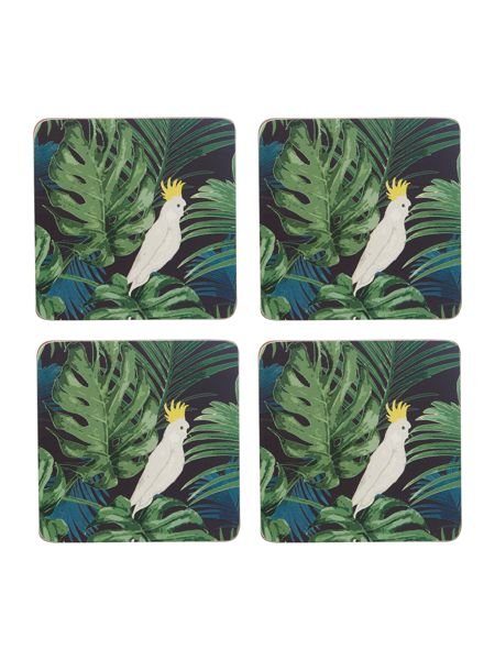 Linea Amazon cork coaster set of 4