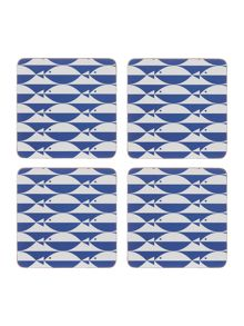 Linea Regatta cork coaster set of 4