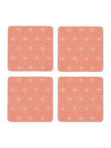 Linea Ceremony cork coaster set of 4