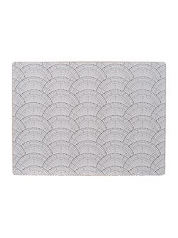 Shibori cork placemats set of 4
