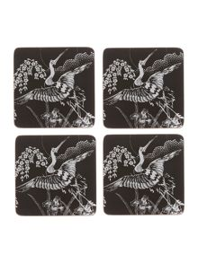 Heron cork coaster set of 4