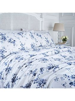 Blue somerset floral duvet cover