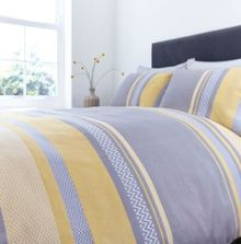 Living by Christiane Lemieux Citrine & Grey chevron duvet cover