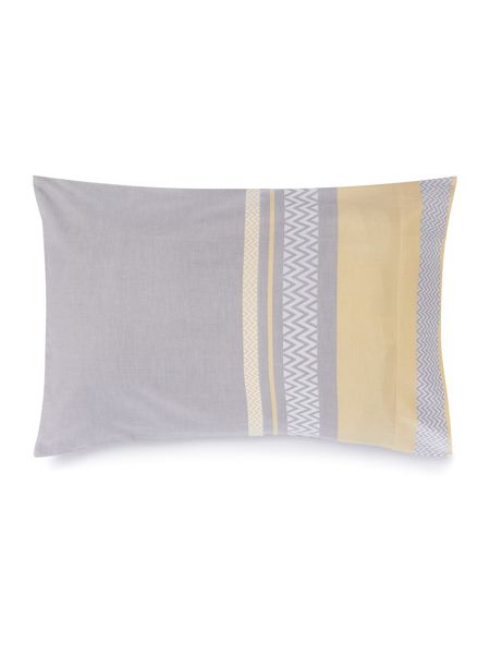 Living by Christiane Lemieux Citrine & Grey chevron pillowcase pair