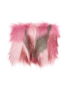 Helen Moore Faux fur pink multi coin purse
