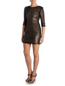 Long Sleeved Sequin Bodycon Dress