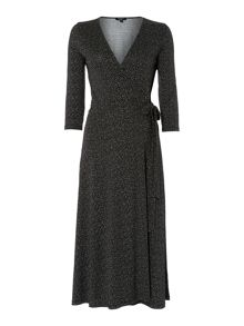Therapy Jersey Midi Length Wrap Dress