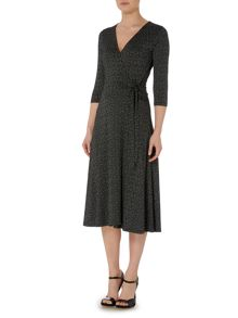 Jersey Midi Length Wrap Dress