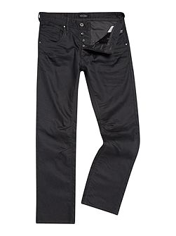 Loose Fit Coated Jeans