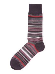 Barcode stripe sock