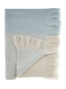 Shabby Chic Pale blue check throw
