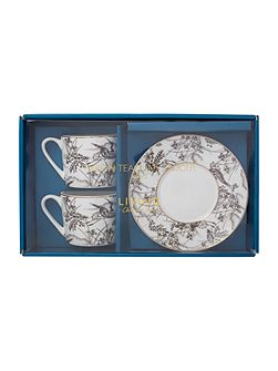 Heron Set Of 2 Teacup & Saucer