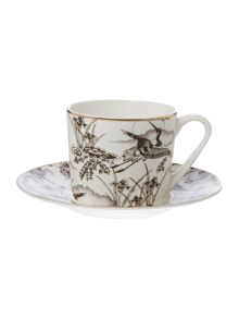 Living by Christiane Lemieux Heron Set Of 2 Teacup & Saucer