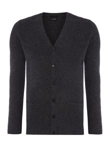 Sisley Men Pure Wool Knitted Cardigan