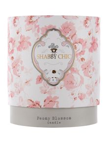 Shabby Chic Peony Bloom Scented Candle