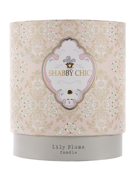Shabby Chic Lily Plume Scented Candle