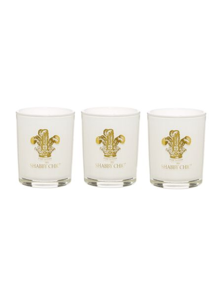 Shabby Chic Set of 3 Scented Votive Candles