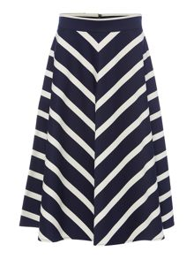 Chevron Striped Skirt