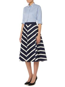 Dickins & Jones Chevron Striped Skirt