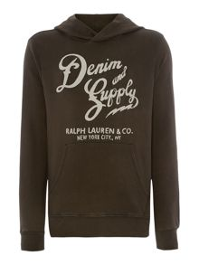 Logo Graphic Pull Over Hoodie