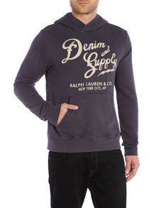 Denim and Supply Ralph Lauren Logo Graphic Pull Over Hoodie