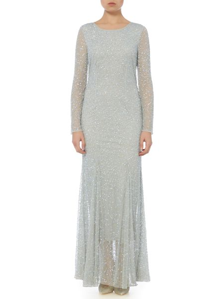 Linea Embroidered l/s maxi dress