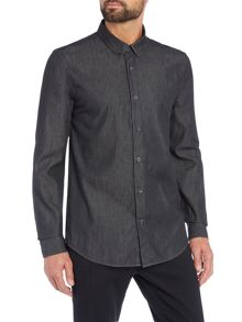 Wincer And Plant Long Sleeve Denim Shirt