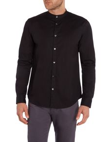 Wincer And Plant Long Sleeve Grandad Collar Shirt