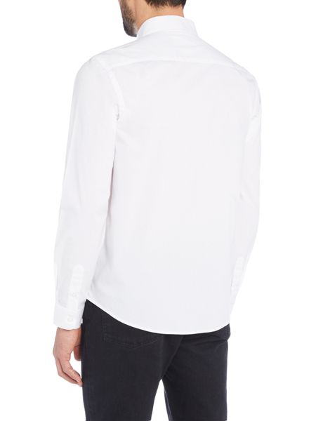 Wincer And Plant Long Sleeve Bibbed Front Shirt