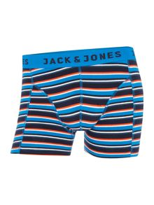 Jack & Jones 3 pack of yarn dyed mixed trunks