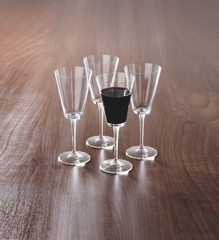 Living by Christiane Lemieux Obliquity Red Wine Set Of 4