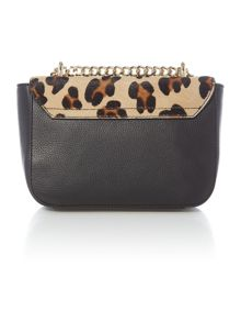 Amelie maculato mult-coloured pony cross body bag