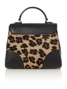 Coccinelle Maculato mult-coloured pony satchel bag