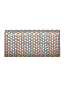 Vivienne Westwood Honeycomb metallic flap over purse