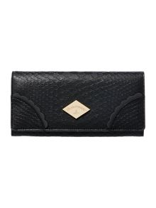 Vivienne Westwood Frilly snake black flap over purse