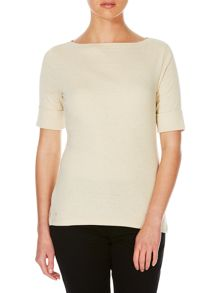 Lauren Ralph Lauren Benny elbow sleeve boatneck top