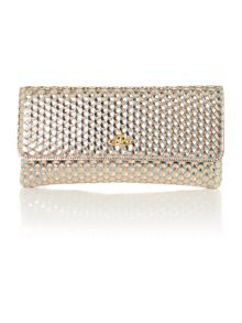 Vivienne Westwood Honeycomb metallic small pouch clutch bag
