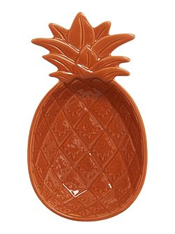 Medium Orange Pineapple Bowl