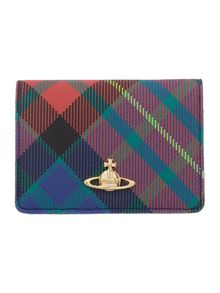 Derby multi tartan card holder